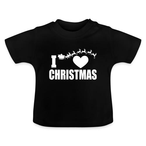 I Love Christmas Heart Natale - Maglietta per neonato