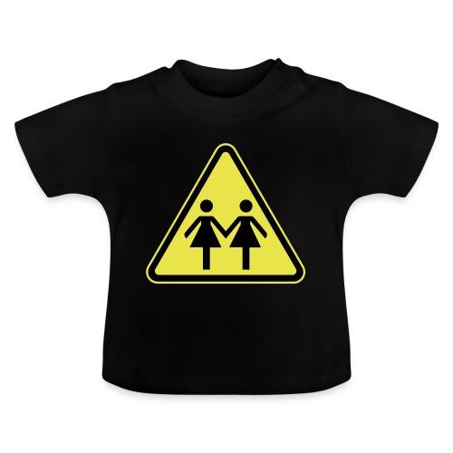 ACHTUNG LESBEN POWER! Motiv für lesbische Frauen - Baby T-Shirt