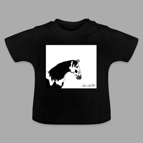 Pferdekopf mit Unterschrift - Baby T-Shirt
