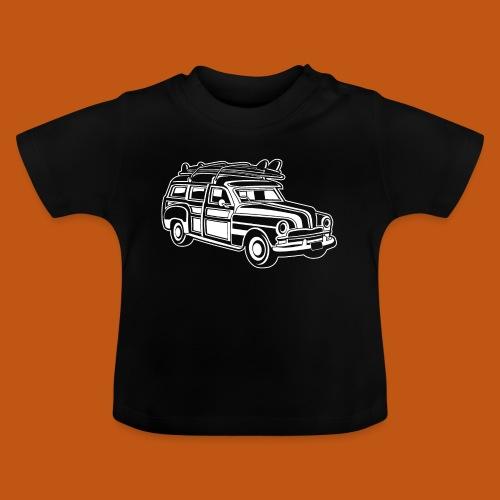 Chevy Cadilac Woodie / Oldtimer Kombi 01_weiß - Baby T-Shirt