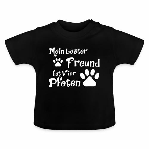 Mein bester Freund hat vier Pfoten - Katze - Baby T-Shirt