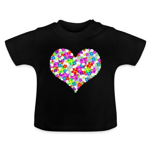 Blumenherz - Baby T-Shirt