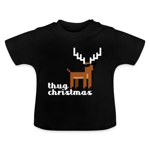 Christmas Xmas Deer Pixel Funny - Baby T-Shirt