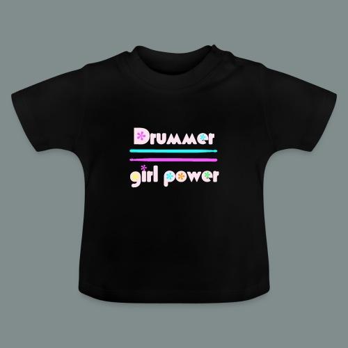 Drummer girlpower rose - T-shirt Bébé