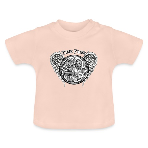 time flies - Camiseta bebé