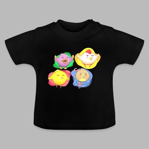 cute birds, lindas aves divertidoa - Camiseta bebé