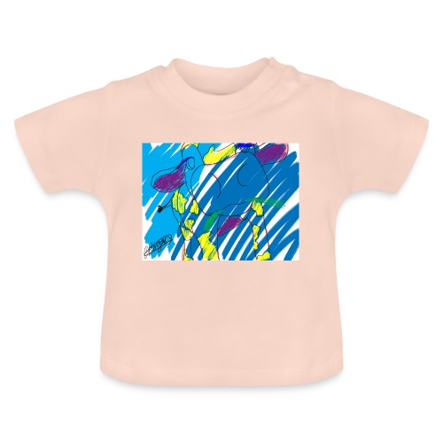 Signed Rainbow Cow - Baby T-Shirt