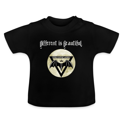Different is Beautiful with Moon WGM Logo - Baby T-Shirt