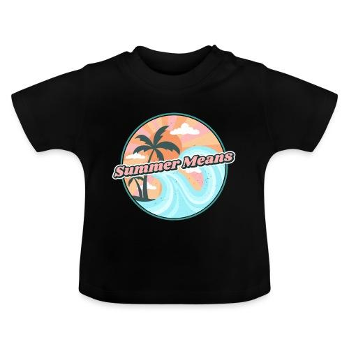 Summer means swimming - Summer, beach, beach sand - T-shirt Bébé