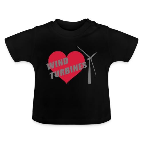 wind turbine grey - Baby T-Shirt