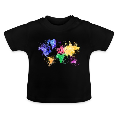 Wanderlust Map - Baby T-Shirt