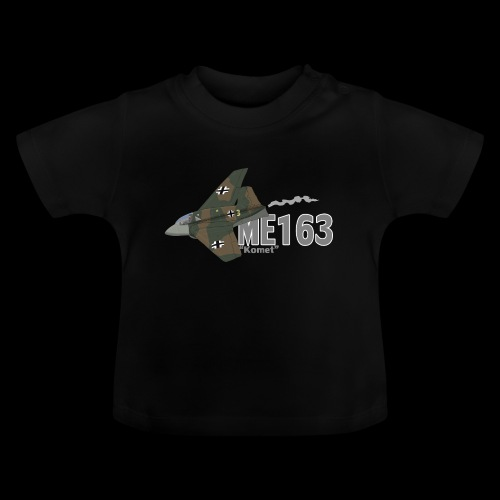 Me 163 Komet (Writing) - Maglietta per neonato