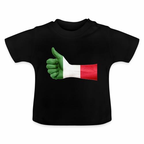Italienische Flagge auf Daum - Baby T-Shirt