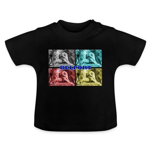 Lion de Belfort quadrichromie + nom - T-shirt Bébé