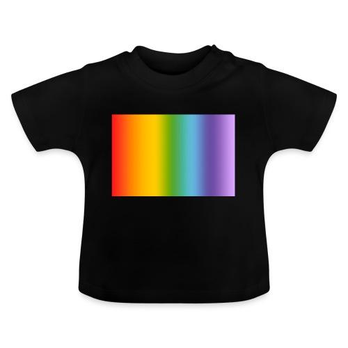 Hintergrund Regenbogen soft - Baby T-Shirt