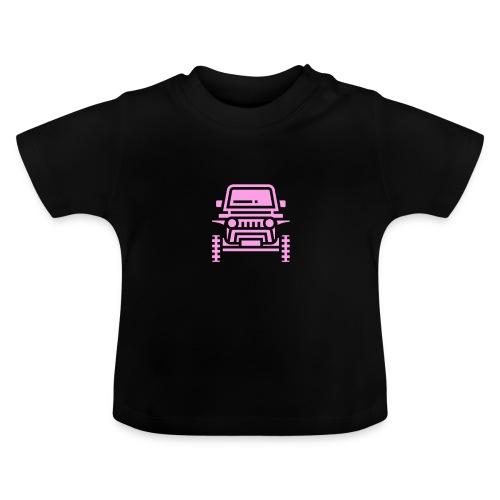 Outdoors pink car jeep - Koszulka niemowlęca