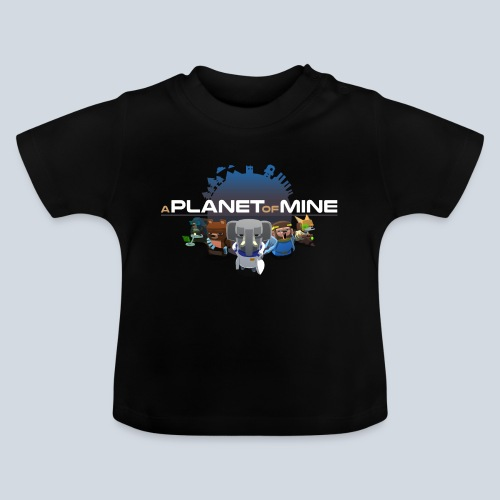 logo planetofmine dark HD - T-shirt Bébé