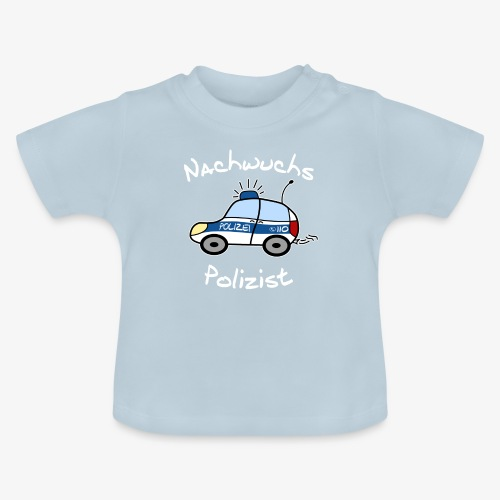 nachwuchs polizist weiss - Baby T-Shirt