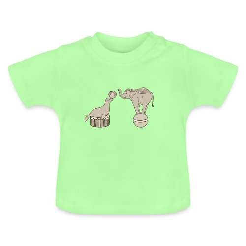Circus elephant and seal - Baby T-Shirt