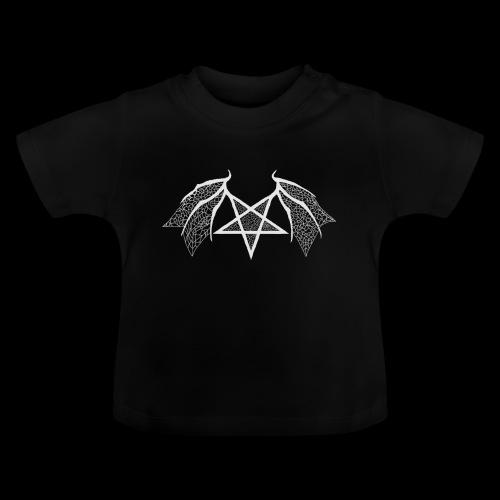 flügelpentagrammitstrukturhellgrau.png - Baby T-Shirt