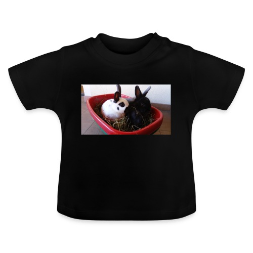 Warme Sachen mit dem Hasenlogo - Baby T-Shirt