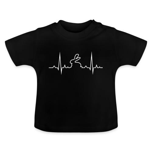 EKG Herzschlag Hase Kaninchen Zwergkaninchen - Baby T-Shirt
