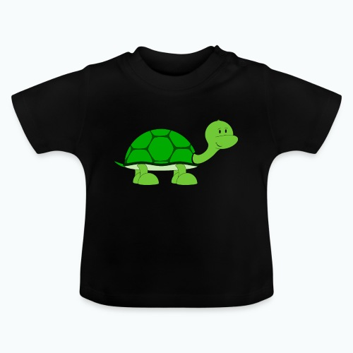 Totte Turtle - Appelsin - Baby-T-shirt