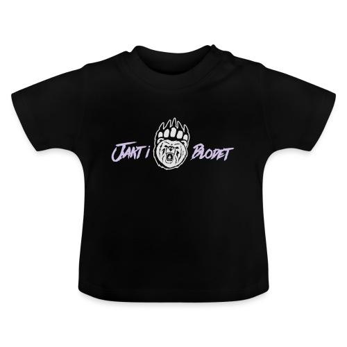 Huvtröja svart grön vit - Baby-T-shirt