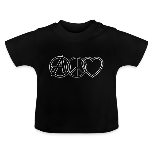 ANARCHY PEACE & LOVE - Baby T-Shirt
