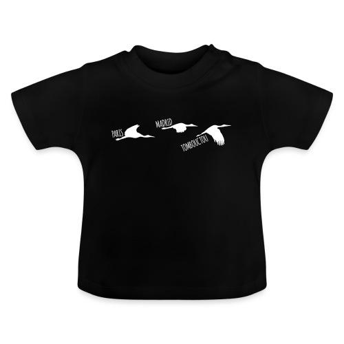 3 horizons oiseaux white - T-shirt Bébé