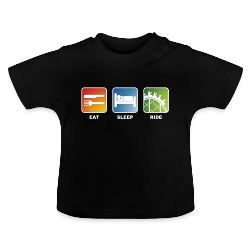 Eat, Sleep, Ride! - T-Shirt Schwarz - Baby T-Shirt