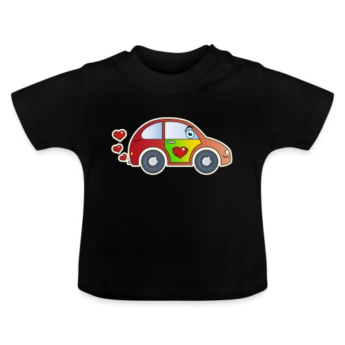 Kids Car Spielzeugauto Herzen bunt fröhlich Kinder - Baby T-Shirt