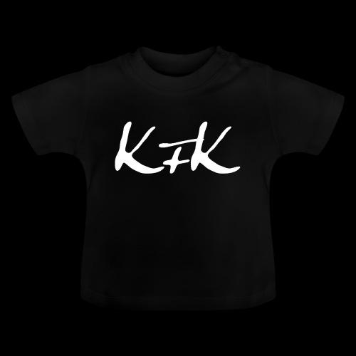 KFK logo blanco - Camiseta bebé