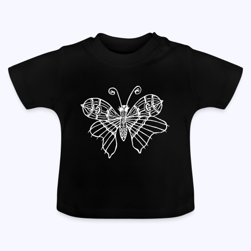 Schmetterling weiss - Baby T-Shirt