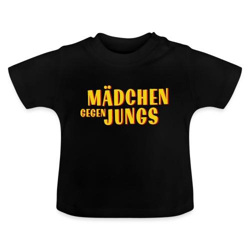 Mädchen gegen Jungs - Baby T-Shirt
