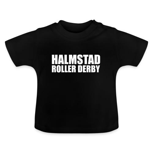 textlogga vit - Baby-T-shirt