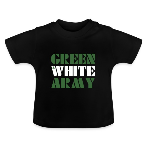 GREEN & WHITE ARMY _STENCIL_3 - Baby T-Shirt