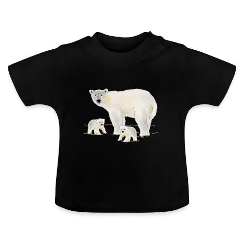 Eisbär mit zwei Jungen - Baby T-Shirt