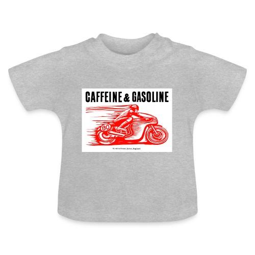 Caffeine & Gasoline black text - Baby T-Shirt