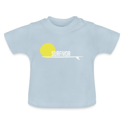 Surfivor surf logo met zon - Baby T-shirt
