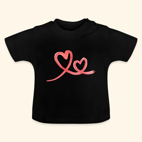 Duo Cœur Main levée - Saint Valentin - T-shirt Bébé