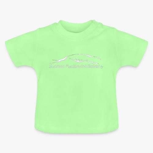 SUP logo valkea - Vauvan t-paita