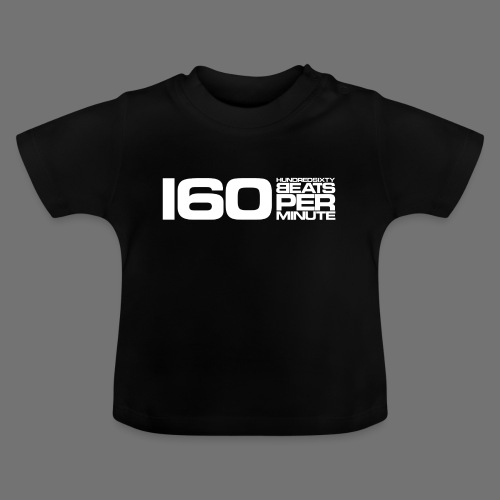 160 BPM (hvid lang) - Baby T-shirt