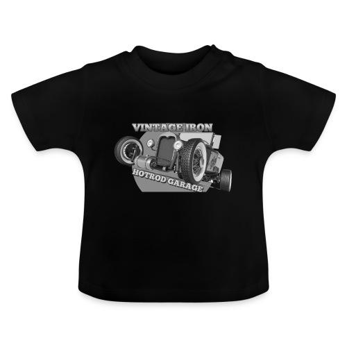 hotrod vintage grau - Baby T-Shirt