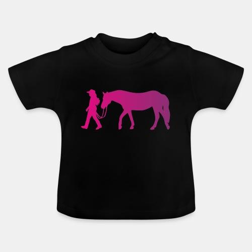 Mädchen führt Pferd, Horsemanship - Baby T-Shirt