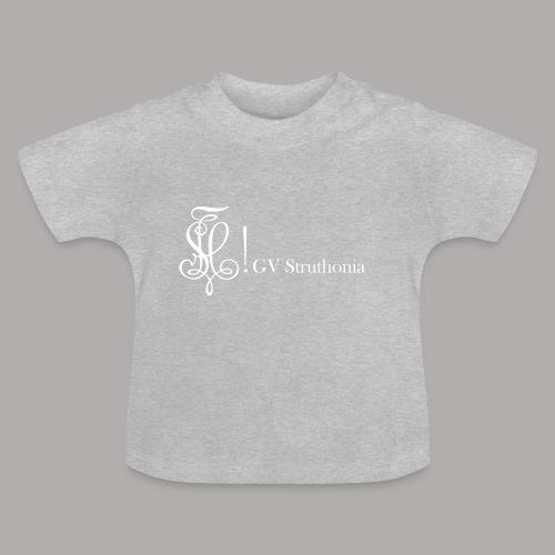 Zirkel mit Name, weiss (vorne) - Baby T-Shirt