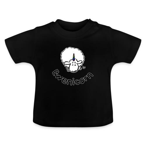 Ewenicorn (schwarze Ausgabe schwarzer Text) - Baby T-Shirt