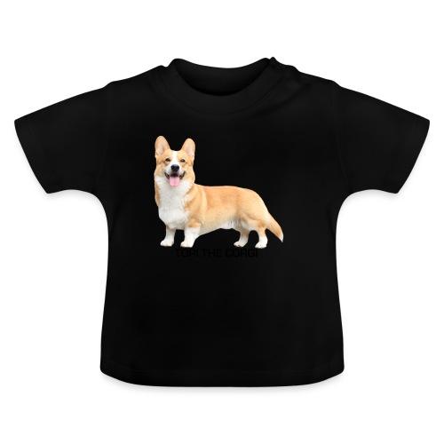 Topi the Corgi - Black text - Baby T-Shirt