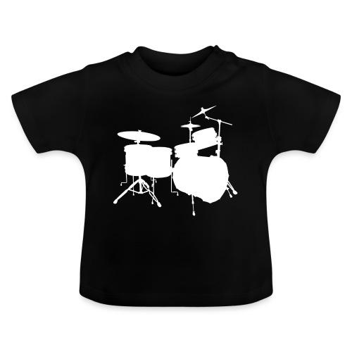 Drumset 2 Kontur weiß - Baby T-Shirt