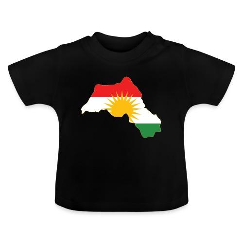 Kurdistan Flag Map - Baby T-Shirt